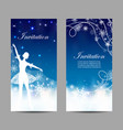 christmas and new year invitations with tender vector image