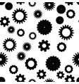 cog wheel seamless pattern clockwork vector image vector image