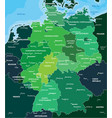 color map of germany vector image vector image