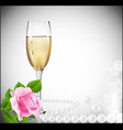 congratulatory champagne background vector image vector image