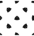 construction helmet pattern seamless black vector image vector image