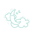 Crescent Moon Sleeping On The Clouds vector image vector image