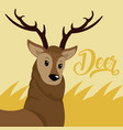 deer cute animal cartoon vector image