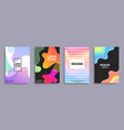 design creative covers set vector image