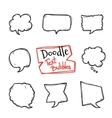 doodle style text bubbles set Cute hand vector image vector image