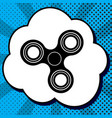 fidget spinner sign black icon in bubble vector image