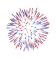 firework isolated beautiful salute on white vector image vector image