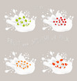 for set berries vector image