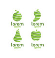 fruit logo set vector image