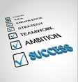 goal success checklist vector image