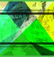 grunge shape green background vector image vector image
