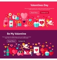Happy Valentines Day Website Banners vector image