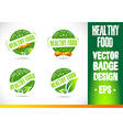 Healthy food Badge Logo vector image vector image