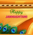 holiday symbols krishna janmashtami vector image vector image
