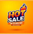 hot sale special offer banner bright creative vector image