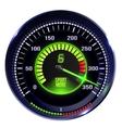 illuminated speedometer vector image