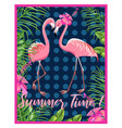 invitation template for a beach party flamingo vector image