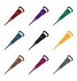iron jackhammer a hammer for pounding rockstool vector image vector image