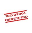 ISO 27001 Certified Watermark Stamp vector image