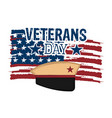 isolated veteran day label vector image vector image