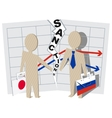 Japan sanctions against Russia negative impact on vector image vector image