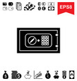 money vault icon collection of financial vector image