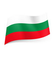 national flag of bulgaria white green and red vector image