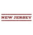 New Jersey Watermark Stamp vector image vector image