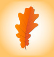 oak leaf pictograph style is flat graphic grey vector image