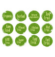 organic labels natural ingredients emblems vector image
