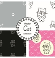 Patterns with cats vector image