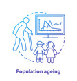 population ageing concept icon elderly people vector image vector image