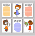 print templates set vector image