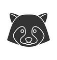 raccoon glyph icon vector image