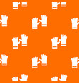 rubber gloves pattern seamless vector image vector image