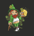 saint patricks day mascot love beer party vector image vector image