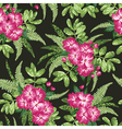 Seamless exotic pattern vector image vector image