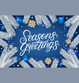seasons greetings hand written lettering text vector image vector image