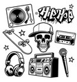 set hip hop culture objects vector image vector image