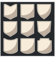 Shields - set vector image vector image
