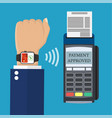smart watch pos terminal payment vector image vector image