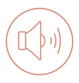 Speaker volume line icon vector image