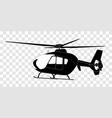 sticker on car silhouette helicopter vector image vector image