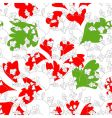 stylish colorful floral seamless wallpaper vector image vector image