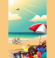 summer travel poster vector image vector image