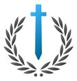 Sword Honor Embleme Gradient Icon vector image vector image