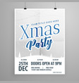 template flyer design for christmas party vector image