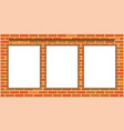 three hanging white sheet paper notes vector image vector image