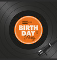 vinyl-birthday-party vector image