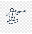 wakeboarding concept linear icon isolated on vector image
